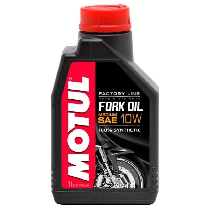Масло вилочное 100% синтетичне MOTUL Fork Oil Medium Factory Line SAE 10W 1л. 105925/821601