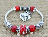 Красивый браслет стиль Pandora Красный