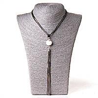 [20 мм] Ожерелье жемчужина подвеской кисточкой из металических цепочек, фото 1