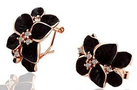 Сережки Black Flower