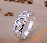 Кольцо Heart Серебро 925 проба, фото 1