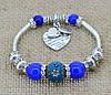 Красивый браслет стиль Pandora Фиолетовый