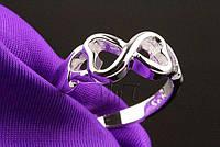 Кольцо Бесконечность Серебро 925 пробы, фото 1
