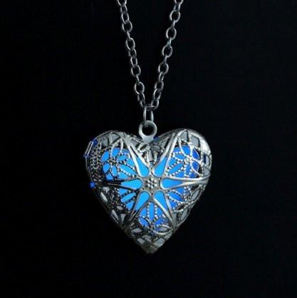 Медальон светящийся с цепочкой  925 silver