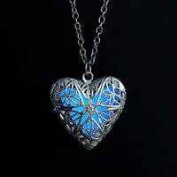 Медальон светящийся с цепочкой  925 silver, фото 1