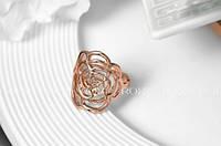 Кольцо Roses Ring 18K покрытие золотом, фото 1