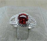 Кольцо с инкрустированным камнем silver 925, фото 2