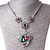 [20-50 мм] Ожерелье жгут Дивные Цветы стекло страза Silver