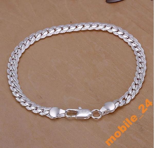 Мужской браслет Серебро 925