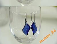 Серьги Blue fashion transparent crystal