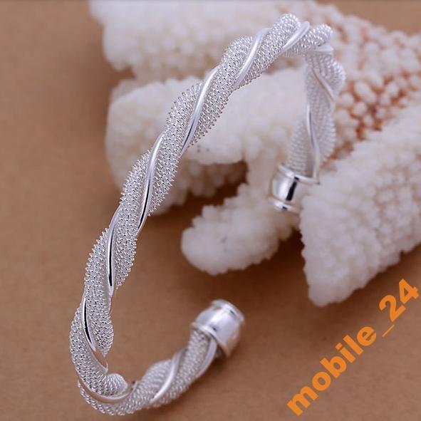 Браслет Twisted Web Silvery Серебро 925 пробы