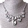 [10-25 мм] Ожерелье Гронка белые камни Silver белый
