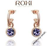 Серьги Lovely Purple Roxi покрытие золотом, фото 2