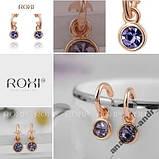Серьги Lovely Purple Roxi покрытие золотом, фото 4
