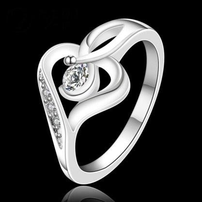 Кільце 925 sterling silver heart-shaped
