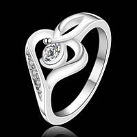 Кольцо 925 sterling silver heart-shaped
