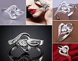 Кільце 925 sterling silver heart-shaped, фото 2