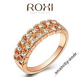 Кольцо с кристаллами Gold 18K, фото 2
