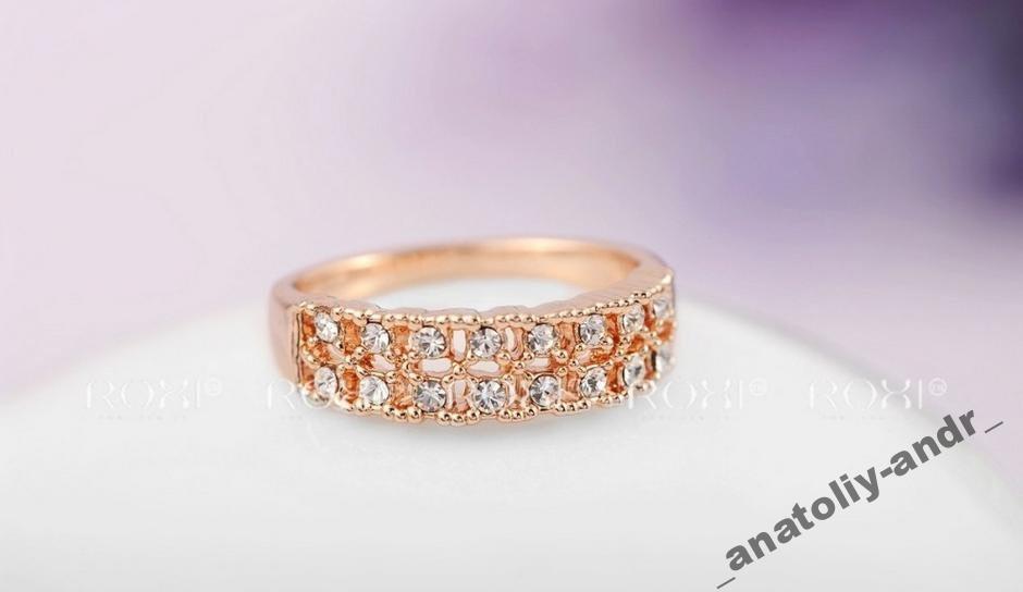 Кольцо с кристаллами Gold 18K