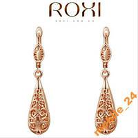 Сережки Ажурные Roxi Brand 18К покрытие золотом, фото 1