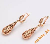 Сережки Ажурные Roxi 18К покрытие золотом, фото 1