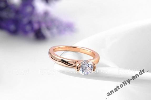 Кольцо Wedding Ring покрытие золотом Roxi