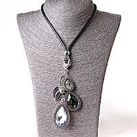 [20-50 мм] Ожерелье кожзам с подвеской ассорти камней и пандоры, фото 1