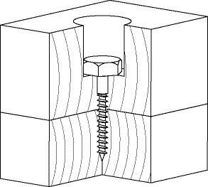 Шуруп для соединения деревянных лаг и реек DIN 571 8х180 (25шт/упаковке) - фото 3