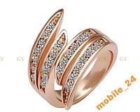 Кольцо с кристаллами Swarovski Rose Gold 18К, фото 1