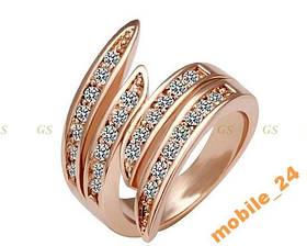 Кольцо с кристаллами Swarovski Rose Gold 18К