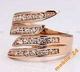 Кольцо с кристаллами Swarovski Rose Gold 18К, фото 2