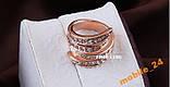 Кільце з кристалами Swarovski Rose Gold 18К, фото 5