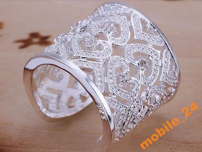 Кольцо с кристаллами sterling silver 925