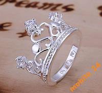 Кольцо с кристаллами Сrown&Queen Серебро 925