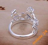 Кольцо с кристаллами Сrown&Queen Серебро 925, фото 4