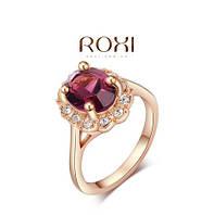 Кольцо Austrian Purple Crystal 18K покр золотом, фото 1