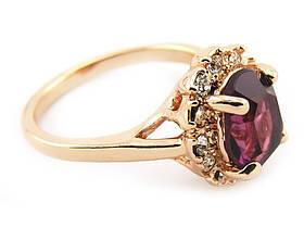 Кольцо Austrian Purple Crystal 18K покр золотом