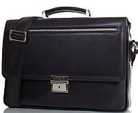 Классический мужской портфель из натуральной кожи KARYA (КАРИЯ) SHI0345-45FL черный