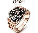 Кольцо Black Rose 18K покрытие золотом, фото 2