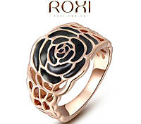 Кольцо Black Rose 18K покрытие золотом, фото 1