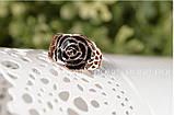 Кольцо Black Rose 18K покрытие золотом, фото 3