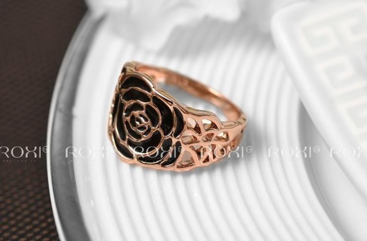 Кольцо Black Rose 18K покрытие золотом