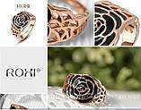 Кольцо Black Rose 18K покрытие золотом, фото 4