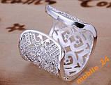 Кольцо с кристаллами sterling silver 925, фото 2