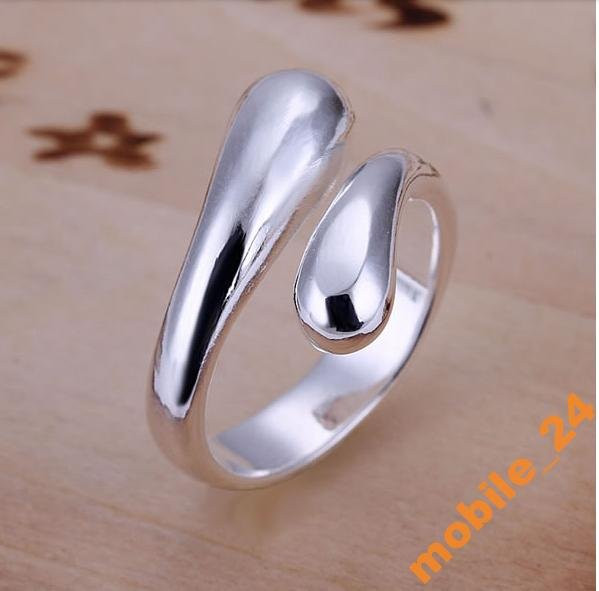 Кольцо капельки Double Round Head Ring Серебро 925