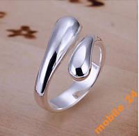 Кольцо капельки Double Round Head Ring Серебро 925, фото 1
