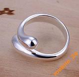 Кольцо капельки Double Round Head Ring Серебро 925, фото 3