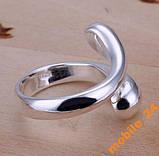 Кольцо капельки Double Round Head Ring Серебро 925, фото 4