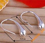 Сережки Крапельки Стерлінгове срібло 925, фото 2