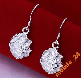 Сережки Rose Earrings Серебро 925